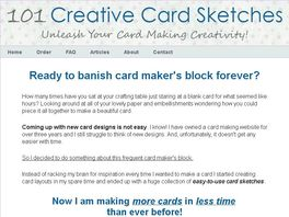 Go to: 101 Creative Card Sketches: A Must-have For Card Makers
