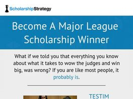 Go to: Scholarship Strategy