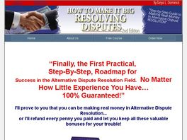 Go to: How To Make It Big Resolving Disputes
