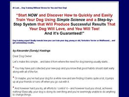 Go to: Dog Training Without Stress Ebook