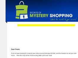 Go to: Secretsofmysteryshopping #1 Mystery Shopping, Survey, & Job Traffic