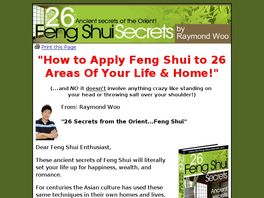 Go to: 26 Feng Shui Secrets.