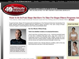 Go to: The 40 Minute Bodysecret - Earn Up To 90% Commission!