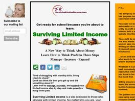 Go to: Surviving Limited Income