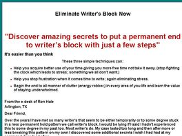Go to: Eliminate Writer's Block Now