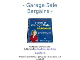 Go to: Secrets Of Garage Sale Bargains.