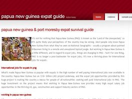 Go to: Papua New Guinea And Port Moresby Expat Survival Guide