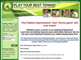 Go to: Improve Your Tennis