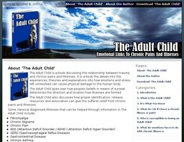 Go to: The Adult Child - Emotional Links To Chronic Pains And Illnesses.