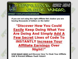 Go to: Affiliate Cloak Magic - Good & High Converting Affilite Link Cloak