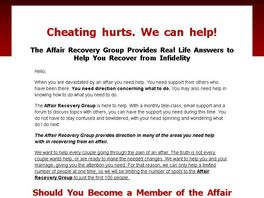 Go to: The Affair Recovery Group