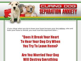 Go to: Secrets To Cure Dog Separation Anxiety, Dog Training - 60% Commissions