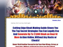 Go to: Aion Wealth Kinah Guide