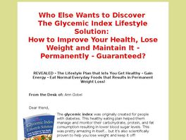 Go to: The Glycemic Index Lifestyle Solution