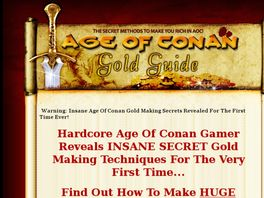 Go to: Age Of Conan Gold Guide - Converts At 1 In 15 - Big Cheques!