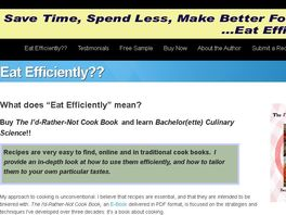 Go to: Eat Efficiently: The I'd-rather-not Cook Book