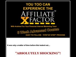 Go to: Affiliate X Factor.
