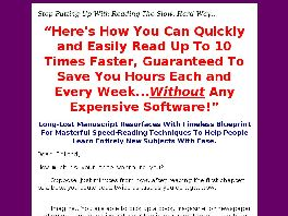 Go to: Velocity Reading Secrets Speed Reading In Minutes.