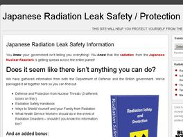 Go to: Japanese Radiation Link Safety Information