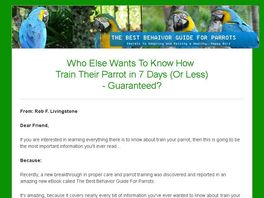 Go to: The Best Behavior Guide for Parrots