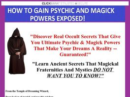 Go to: How To Get Psychic & Magick Powers! This Book Sells Itself!