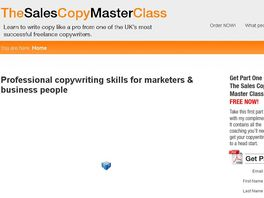 Go to: Sales Copy Master Class