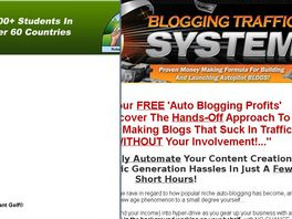 Go to: Brand New Blogging Traffic System - Earn 65% Commissions!