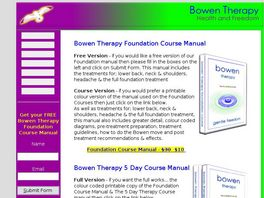 Go to: Pain Free Forever - Bowen Manual