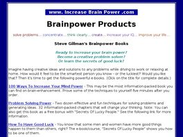 Go to: Brainpower Books