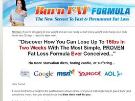 Go to: Burn Fat Formula - Brand New Product With High Conversion Rate!
