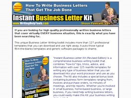 Go to: Instant Business Letter Kit.