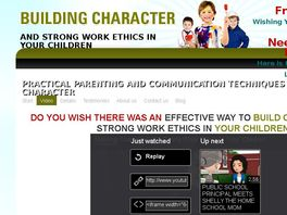 Go to: Building Character and Strong Work Ethics in Children