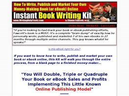 Go to: Instant Book Writing Kit.