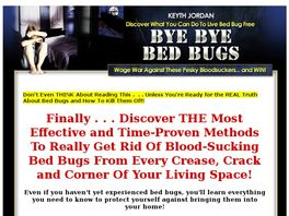 Go to: Bye Bye Bed Bugs - 60% Commissions