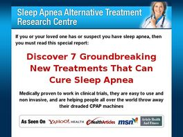 Go to: 7 Sleep Apnea Cures - New Product In Untapped Niche!