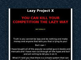Go to: Lazy Project X.