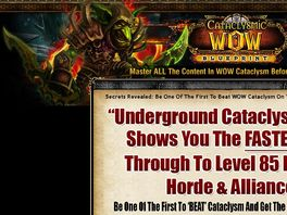 Go to: Cataclysmic Wow Blueprint - 75% To You! - Cataclysm Leveling Guide!