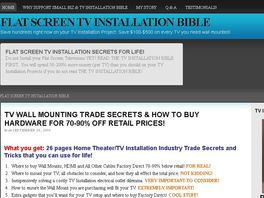Go to: Essential Tv Installation Guide