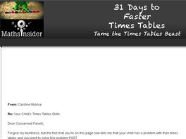 Go to: 31 Days To Faster Times Tables