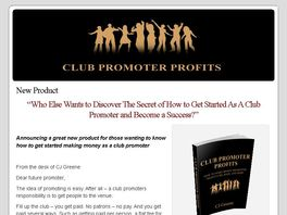 Go to: New Club Promoter Profits - Get Paid To Party