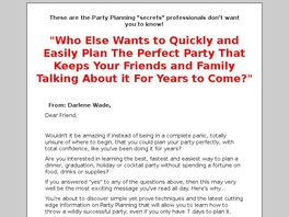Go to: How To Plan The Perfect Party.