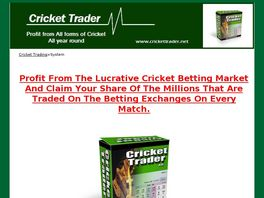 Go to: Cricket Trader - Betfair Trading System.