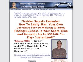 Go to: Earn A Huge Income Tinting Windows