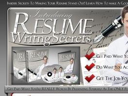 Go to: Resume Writing Secrets - 75% Commission