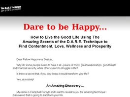 Go to: Dare To Be Happy.