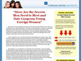 Go to: Foreign Dating Secrets