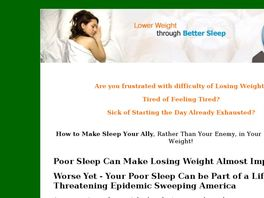 Go to: SleepSound2LoseWeight - The Connection Between Sleep And Weight Loss.