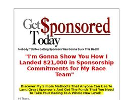 Go to: Get Sponsored Today-learn To Get Sponsors For Race Teams-70% Payout