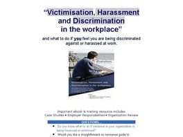 Go to: Victimisation, Harassment And Discrimination In The Workplace