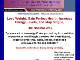 Go to: Master Of Your Destiny 1: Take Control Of Your Health.